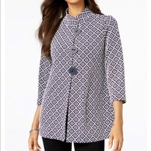 JM Collection Petite Printed Jacket